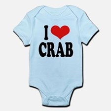 ilovecrabblk.png Infant Bodysuit