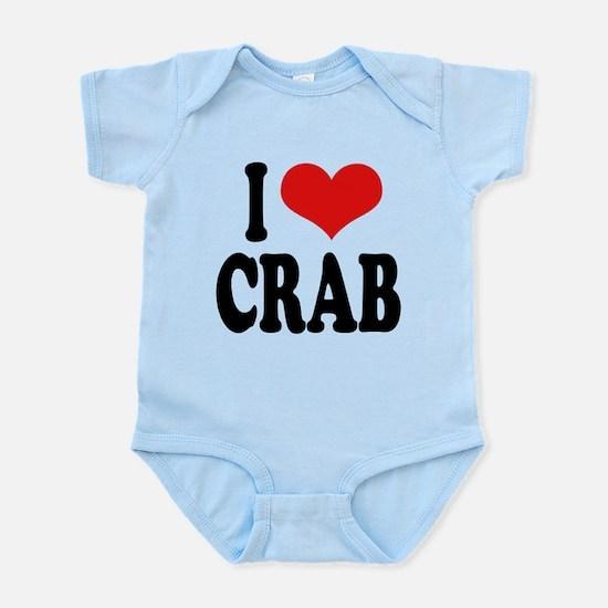 ilovecrabblk.png Infant Bodysuit