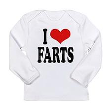 ilovefartsblk.png Long Sleeve Infant T-Shirt
