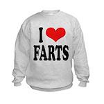 ilovefartsblk.png Kids Sweatshirt