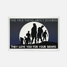 Zombie Love Rectangle Magnet