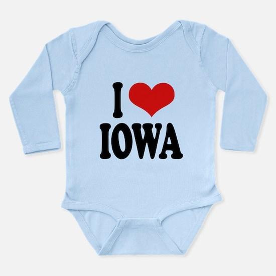 iloveiowablk.png Long Sleeve Infant Bodysuit