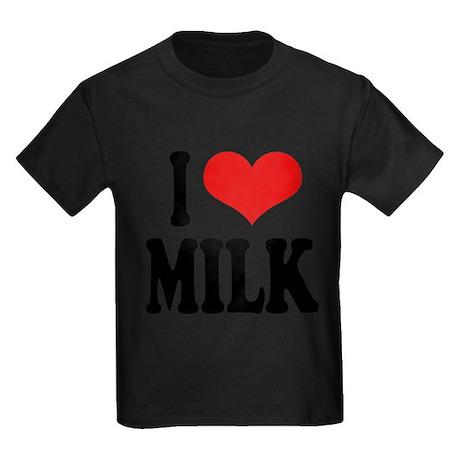 ilovemilkblk.png Kids Dark T-Shirt