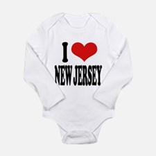 ilovenewjerseyblk.png Long Sleeve Infant Bodysuit