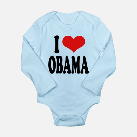 iloveobamablk.png Long Sleeve Infant Bodysuit