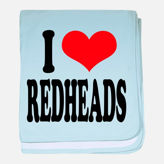 iloveredheadsblk.png baby blanket