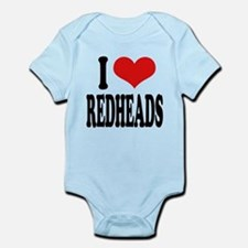 iloveredheadsblk.png Infant Bodysuit