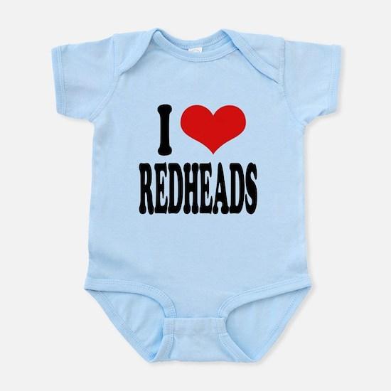iloveredheadsblk.png Infant Bodysuit