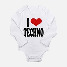 ilovetechnoblk.png Long Sleeve Infant Bodysuit