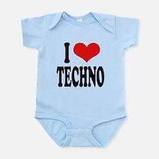 ilovetechnoblk.png Infant Bodysuit