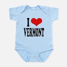 ilovevermontblk.png Infant Bodysuit