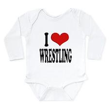 ilovewrestlingblk.png Long Sleeve Infant Bodysuit