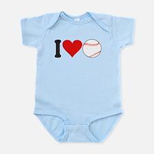 ilovebaseballblk.png Infant Bodysuit