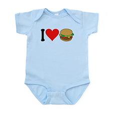 3-ilovehamburgersblk.png Infant Bodysuit