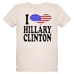 ilovehillaryclintonblk.png Organic Kids T-Shirt
