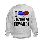 ilovejohnedwardsblk.png Kids Sweatshirt