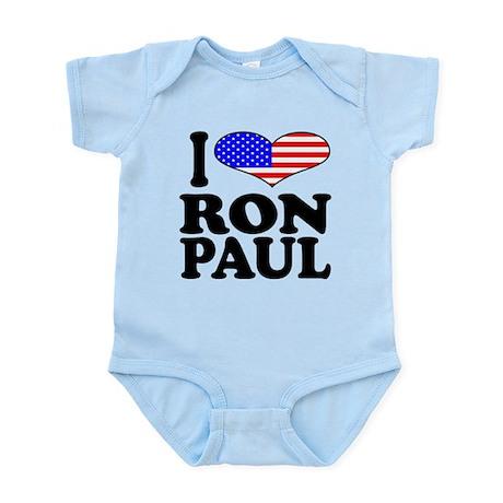 iloveronpaulblk.png Infant Bodysuit