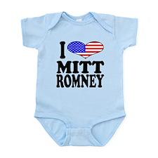 ilovemittromneyblk.png Infant Bodysuit