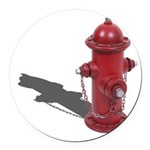 Fire Hydrant Round Car Magnet