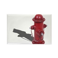 Fire Hydrant Rectangle Magnet