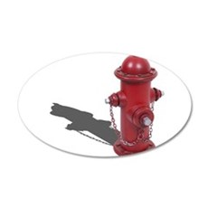 Fire Hydrant 35x21 Oval Wall Decal