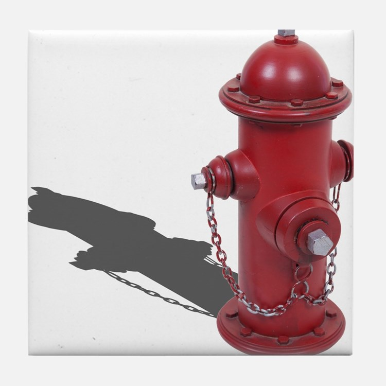 Fire Hydrant Tile Coaster