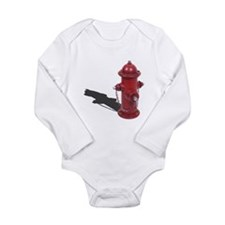 Fire Hydrant Long Sleeve Infant Bodysuit