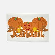 Halloween Pumpkin Randall Rectangle Magnet