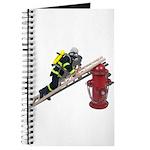 Fireman on Ladder on Fire Hydrant Journal