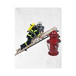 Fireman on Ladder on Fire Hydrant Twin Duvet