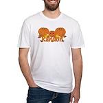 Halloween Pumpkin Randon Fitted T-Shirt
