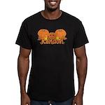 Halloween Pumpkin Randon Men's Fitted T-Shirt (dar