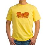 Halloween Pumpkin Randon Yellow T-Shirt
