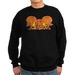 Halloween Pumpkin Randon Sweatshirt (dark)