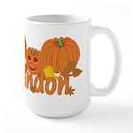 Halloween Pumpkin Randon Large Mug