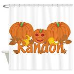 Halloween Pumpkin Randon Shower Curtain