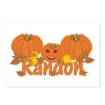 Halloween Pumpkin Randon Postcards (Package of 8)