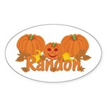 Halloween Pumpkin Randon Sticker (Oval)