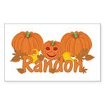 Halloween Pumpkin Randon Sticker (Rectangle)