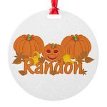 Halloween Pumpkin Randon Round Ornament