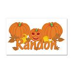 Halloween Pumpkin Randon Car Magnet 20 x 12