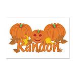 Halloween Pumpkin Randon Mini Poster Print