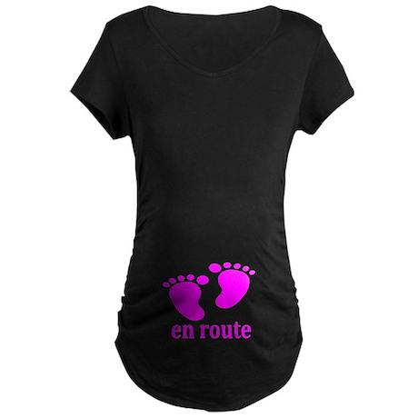 BEBE EN ROUTE ROSE MATERNITE T-Shirt