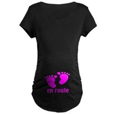BEBE EN ROUTE ROSE MATERNITE T-Shirt
