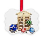 House Afloat Picture Ornament