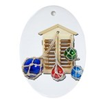 House Afloat Ornament (Oval)