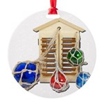 House Afloat Round Ornament
