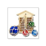 House Afloat Square Sticker 3
