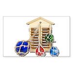 House Afloat Sticker (Rectangle 10 pk)