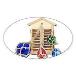 House Afloat Sticker (Oval)
